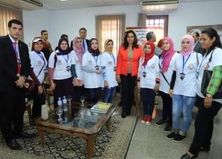 محافظ دمياط تتفقد مكتبة مصر وتوجه برعاية المخترعين وتنمية مواهبهم