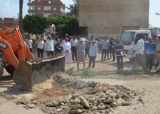 بالصور| محافظ كفر الشيخ يتابع إزالة التعديات على أملاك الدولة بقلين
