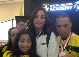 بشرى تشارك في احتفالية وادي دجلة بأبطال من ذوي الاحتياجات الخاصة