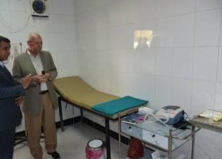 محافظ أسوان يتفقد أعمال تطوير الوحدة الصحية بالقنادلة في مركز إدفو