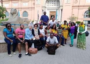 """وفد الإذاعيين الأفارقة يزور المتحف المصري ضمن دورة """"الأعلى للإعلام"""""""