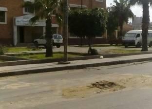 حي غرب بالإسكندرية يشرف على إصلاح ماسورة مياه أمام مستشفى القباري