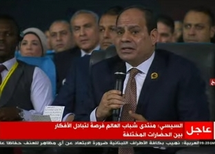 """في أسوان وشباب العالم.. السيسي مهتم بسلام منطقة """"الساحل والصحراء"""""""