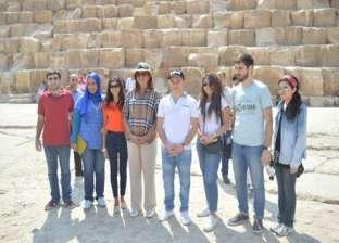 """وفد """"الأرمن"""" يزور الأهرامات.. ومكرم: رسالة أن مصر بلد الأمن والأمان"""