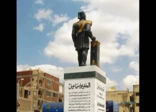 """محافظ الإسماعيلية إعادة تمثال """"الخديوي إسماعيل"""" إلى لونه السابق"""