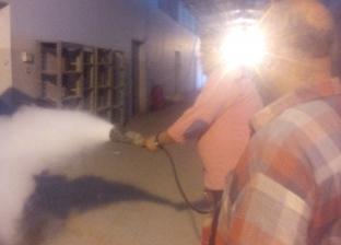 إجراء تجربة إطفاء حريق داخل مطار شرم الشيخ الدولي