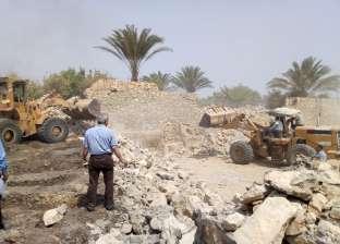 إزالة 114 حالة تعدِ بالزراعة والبناء على أراض أملاك دولة في الفيوم