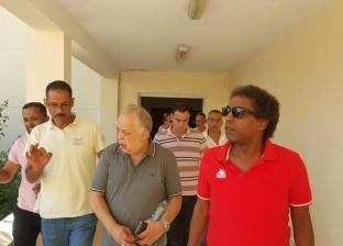 أشرف زكي وعواض يتفقدان قصر ثقافة برج العرب في الإسكندرية