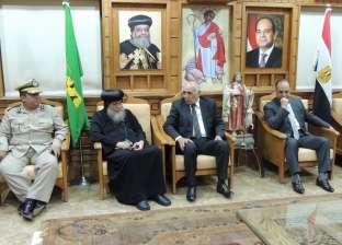 مدير أمن المنيا للأسقف العام: عازمون على مواجهة كل الخارجين عن القانون