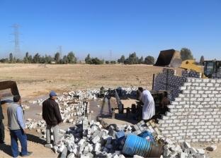 إزالة 1020 حالة تعد على الأراضى الزراعية بمساحة 233 فدانا في كفر الشيخ