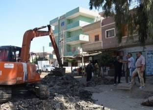 بالصور| بدء رفع كفاءة طريق «شنو - الحمراوي» وتنفيذ خط الصرف بكفر الشيخ