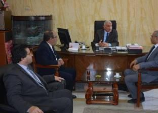 سكرتير عام محافظة جنوب سيناء يستقبل وفد بنك الاستثمار للتمويل