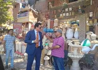 نائب محافظ القاهرة يطالب بإزالة إشغالات منطقة الفواخير