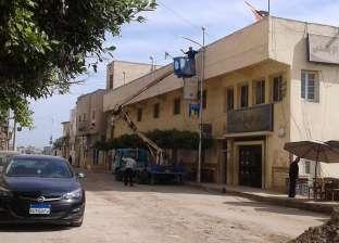 """بالصور  إحلال وتجديد أسلاك الكهرباء وتركيب خطوط """"الغاز"""" في كفر الشيخ"""