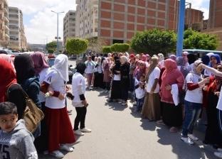 مسيرات تجوب شوارع مطروح لتأييد التعديلات الدستورية