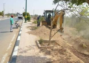 إنشاء حديقة عامة بمدخل مدينة الخارجة في الوادي الجديد