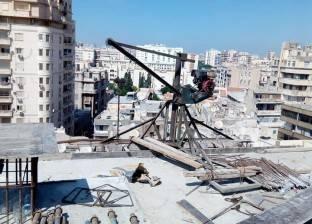 إيقاف بناء مخالف في محطة الرمل وسط الإسكندرية