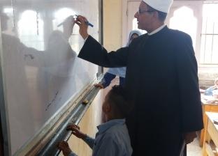 وكيل الأزهر يجري جولة تفقدية لمتابعة الدراسة في معهد الحسين