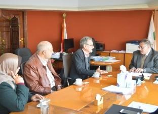 """رئيس """"القومي لبحوث المياه"""" يلتقي ممثل """"NIRAS"""" لبحث التغيرات المناخية"""