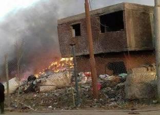 السيطرة على حريق هائل بحظيرة مواشي بدنشواي دون إصابات بشرية