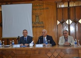 رئيس جامعة الإسكندرية يشارك في اجتماع مجلس كلية الطب البيطري