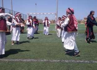 عروض فنية ورياضية لـ500 شاب في احتفالات شمال سيناء بعيدها القومي