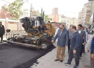 رصف طرق رفع كفاءة شوارع بتكلفة 47.5 مليون في الفيوم