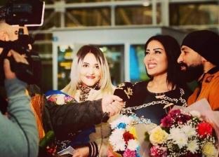 سمية الخشاب وأحمد سعد في العراق استعدادا لحفل عيد الحب