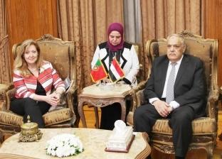 """رئيس """"العربية للتصنيع"""" لسفيرة البرتغال: نتطلع لخلق فرص استثمار حقيقية"""