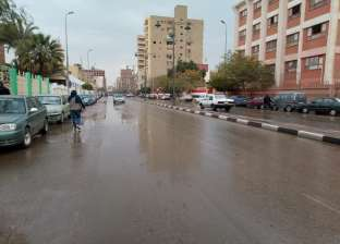 سقوط أمطار غزيرة في الفيوم