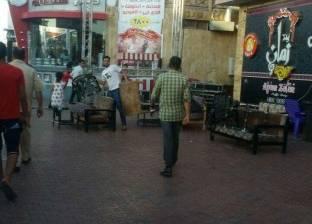 """""""الإسكندرية"""" تزيل إشغالات الطريق بشوارع حي وسط"""