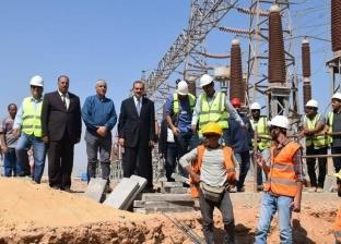 """محافظ أسيوط يتفقد محطة توليد كهرباء غرب.. ويؤكد: """"الأضخم في مصر"""""""