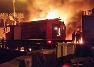 حريق محطة بنزين مدينة دمياط الجديدة يتسبب في إغلاق طريق المطار