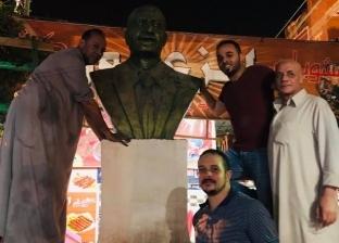 أفراح فى «طحانوب» بعد إزالة التعديات عن تمثال «ناصر»