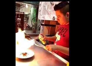 """عناكب وزواحف.. """"منيو"""" أحد المطاعم المكسيكية"""