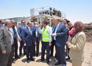 بالصور  وزير التنمية المحلية يتفقد مصنع تدوير المخلفات بـ15 مايو