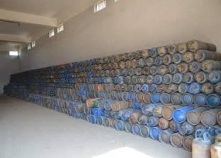 ضبط 10 أسطوانات بوتاجاز مدعمة داخل مصنع طوب بالغربية