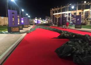التجهيزات النهائية لحفل افتتاح مهرجان القاهرة السينمائي