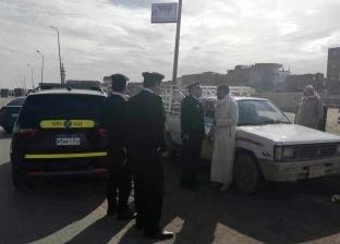 مساعد مدير الإدارة العامة لمرور الإسكندرية يضبط سائق يسير عكس الاتجاه