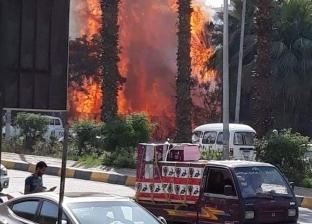 عاجل| 3 سيارات إطفاء للسيطرة على حريق هائل في مكتب بالموسكي