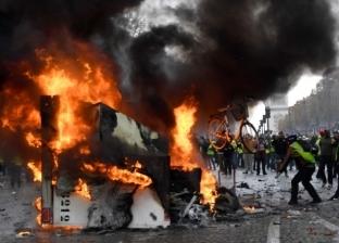 """عاجل  اشتعال النيران بأحد فنادق منطقة """"القوس"""" في باريس"""