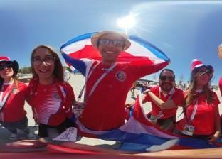 أجواء احتفالية في مدرجات مباراة صربيا وكوستاريكا