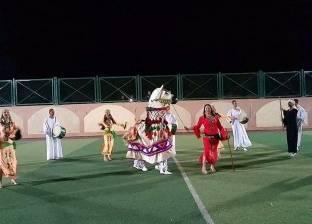 فرقة الحرية تقدم رقصات فنية بمركز شباب الصداقة في أسوان