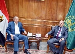 محافظ القليوبية يستقبل مدير الأمن الجديد في مكتبه بالديوان العام