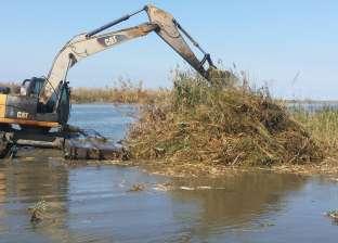 """""""الزراعة"""" تزيل مخالفات على مساحة 1500 فدان في بحيرة البرلس"""