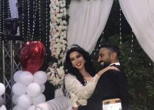 الصور الأولى من حفل زفاف أحمد سعد وسمية الخشاب