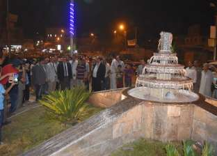 بالصور| افتتاح أعمال تطوير ميدان الحواتم في مدينة الفيوم