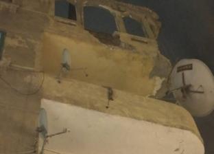 سقوط أجزاء من شرفة عقار بحي الجمرك في الإسكندرية