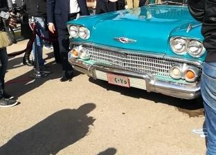 وزير الري يزيل الستار عن سيارة عبد الناصر أثناء تفقده السد العالي