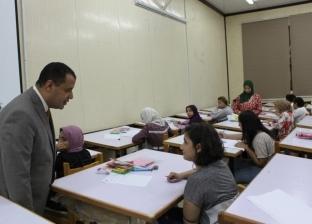 إقبال طلاب الثانوية على اختبارات قدرات فنون جميلة بجامعة أسيوط